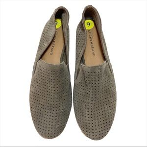 Lucky Brand Charsa Perforated Leather Flats 9M